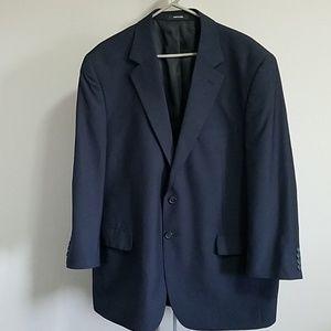 Van Heusen Blue Striped Suit Jacket